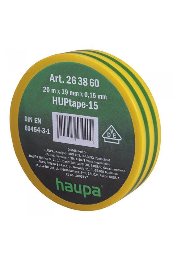 263860  cinta de aislar 19 mm x 20 m  verde amarillo