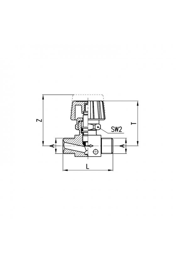 2810 3/8 REGULADOR DE CAUDAL BIDIR. M-M 3/8