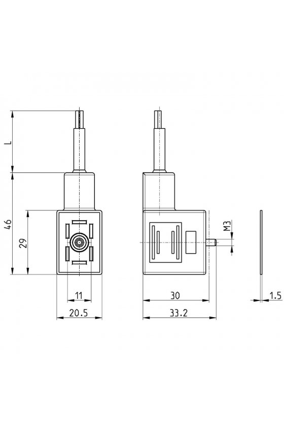122-550-5 CONECTOR P/BOBINA U70 + CABLE