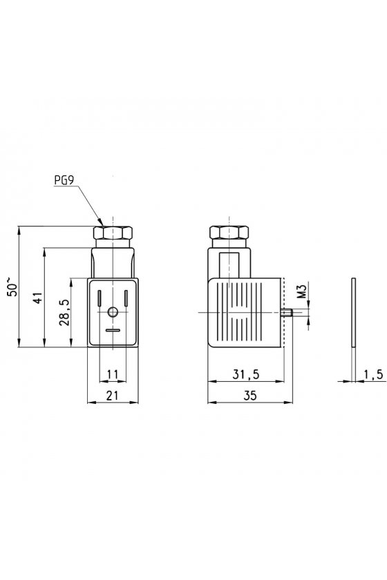 122-702 CONECTOR C/LED 110V CD/CA, P/BOBINA