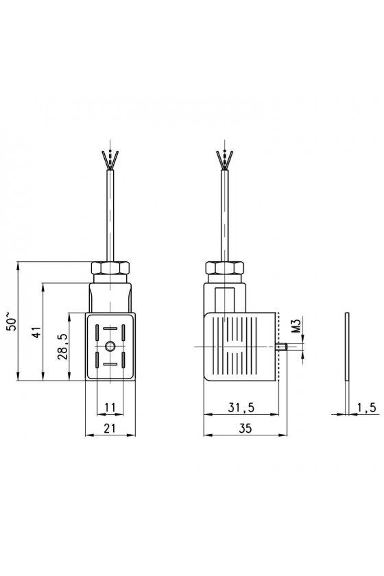 122-892C CONECTOR P/BOBINA G9 C/CIRCUITO TIPO