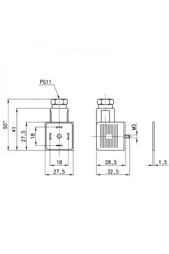 124-830 CONECTOR P/BOBINA A60 Y A80 3 POLOS