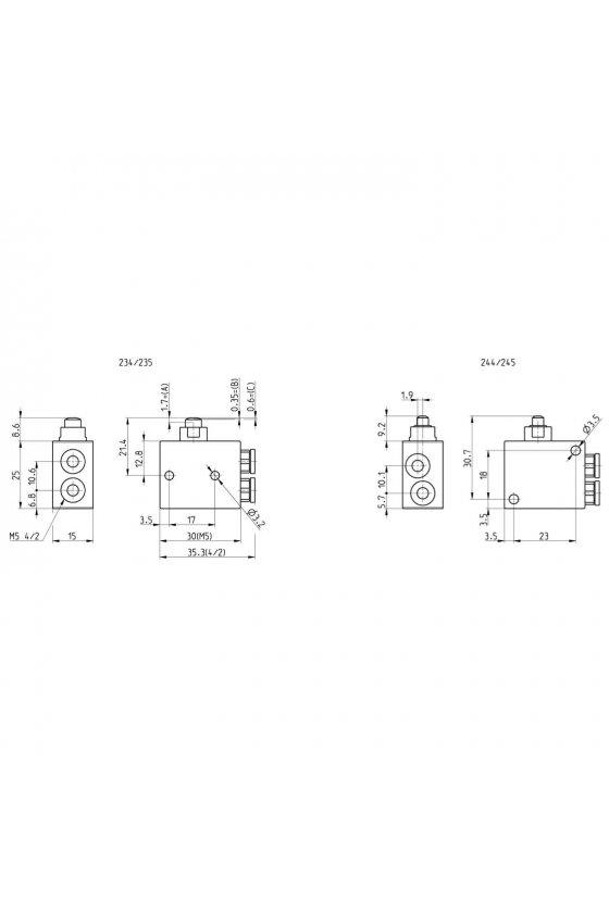 235-945 VALVULA 3/2 N.C. ACC. FRONTAL M5
