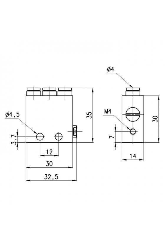 "2LR-SB4-B VALVULA LOGICA ""O"" CONEX. 4MM"