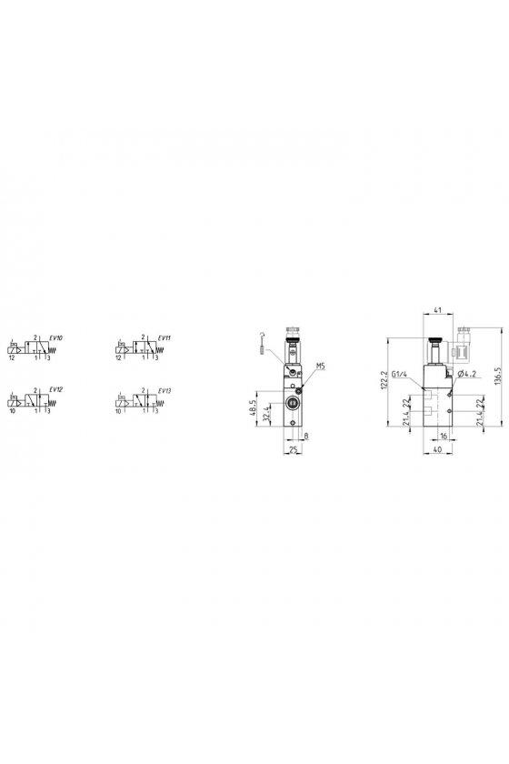 334-015-02 ELECTROVALVULA 3/2 N.C.