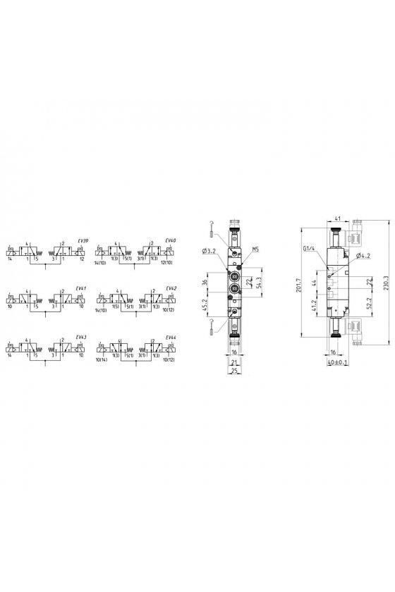 334D-015-02 ELECTROVALVULA  2 x 3/2 N.C.