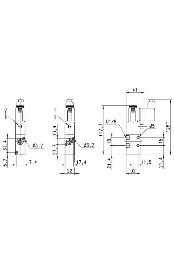 338-015-02 ELECTROVALVULA 3/2 N.C.