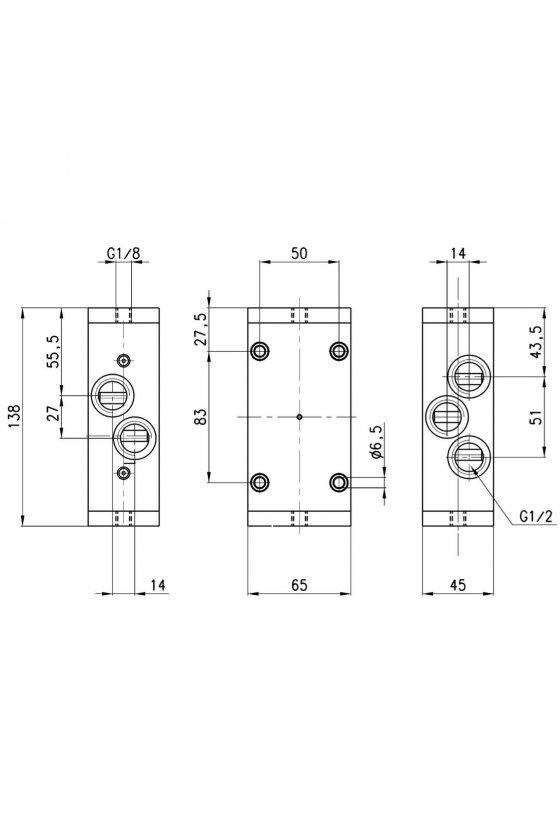 452C-35 VALVULA 5/2 MONOESTABLE 1/2