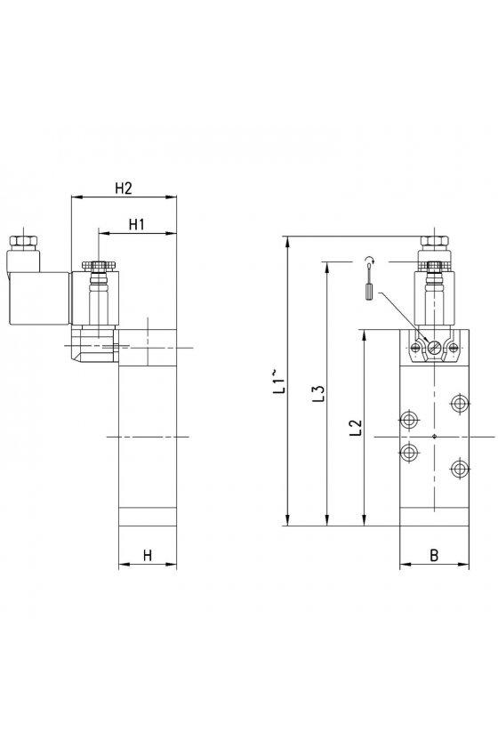 952-000-P15-23 ELECTROVALVULA 5/2 MONOESTABLE