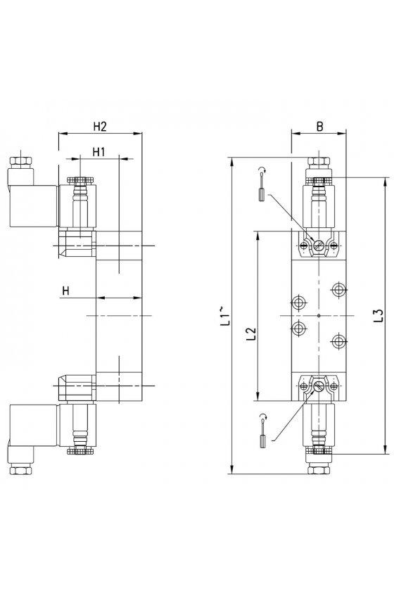971-000-P11-23 ELECTROVALVULA 5/3 C. ABIERTOS ISO 1