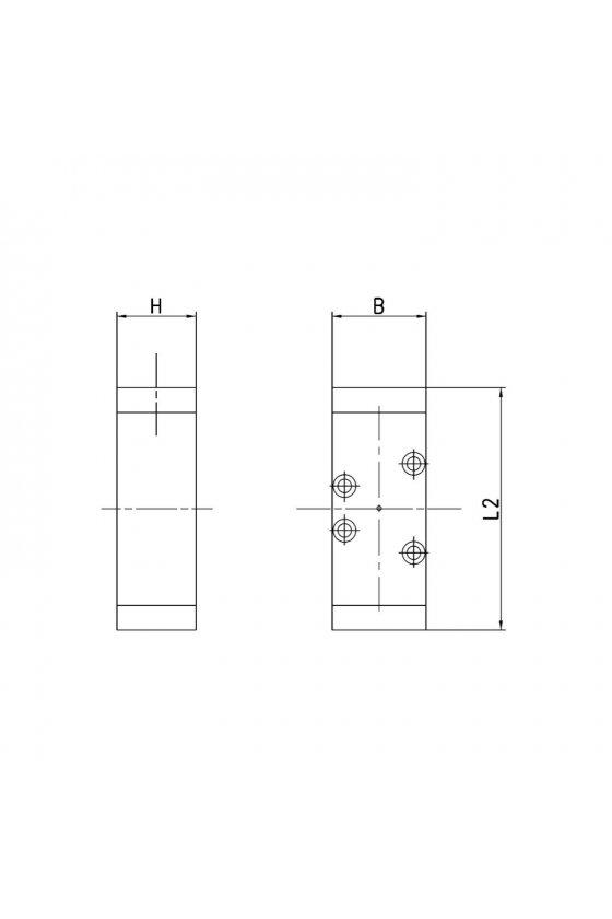 973-000-33 VALVULA 5/3 C. ABIERTOS ISO 3