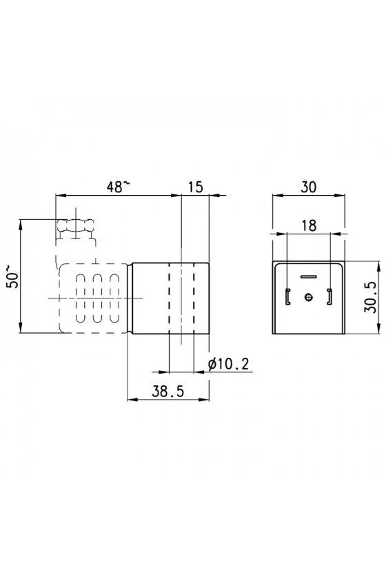 A8B SOLENOIDE  (30X30),  5VA , 24VCA