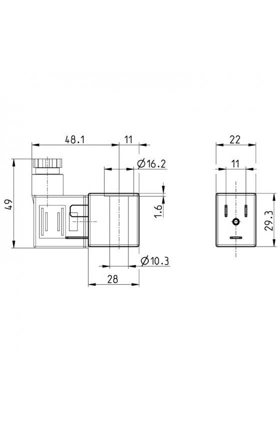 B7E SOLENOIDE  (22X22),  220 VCA