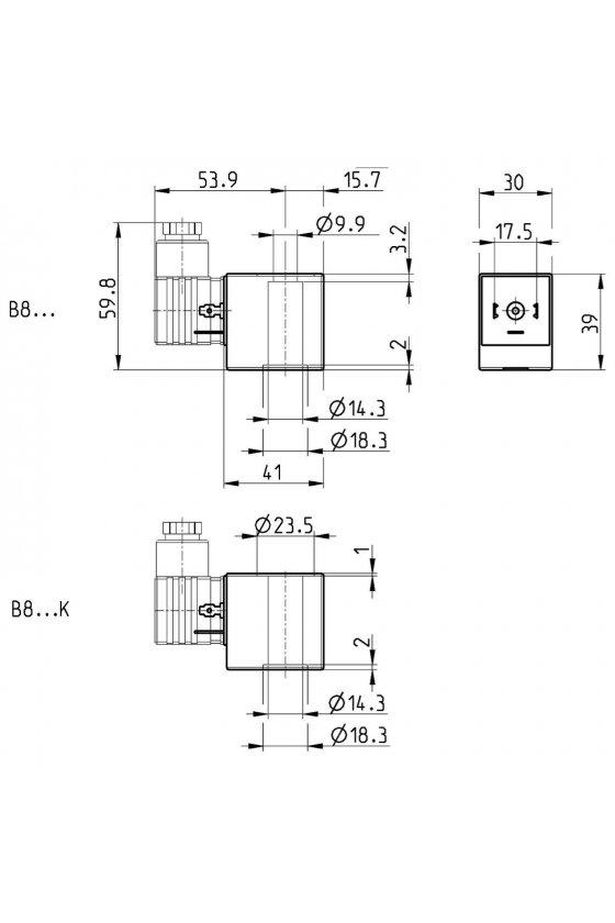 B8B SOLENOIDE  (30X30),  24 VCA