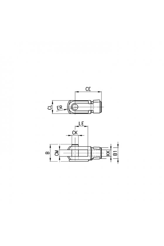 G-12-16 HORQUILLA PARA VASTAGO M6X1