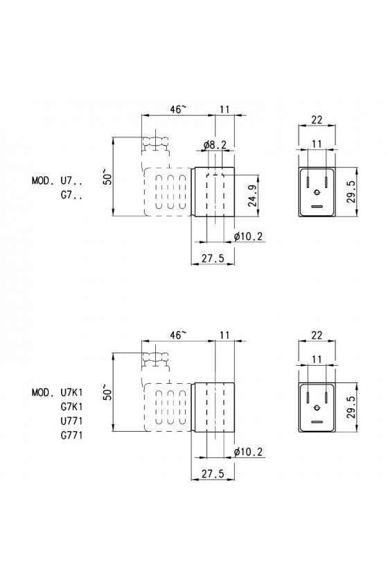 G7J SOLENOIDE  (22X22),  3.5VA , 220VCA