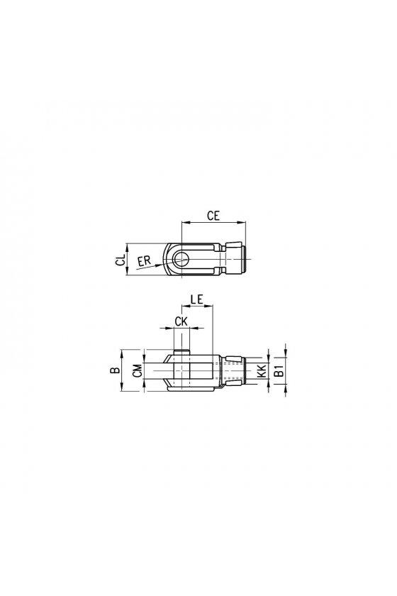 G-8-10 HORQUILLA PARA VASTAGO M4X0.7