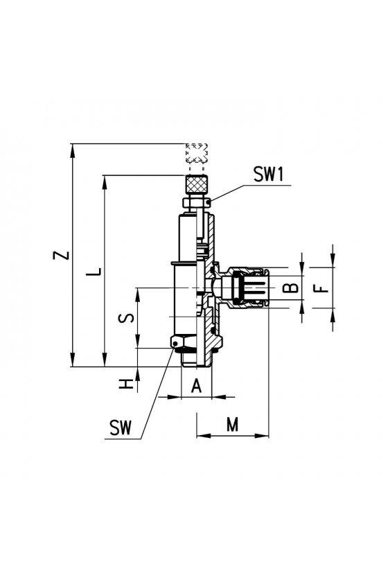 GMCO 906-1/4-10 REGULADOR DE CAUDAL CIL-BIDIR. MAN.