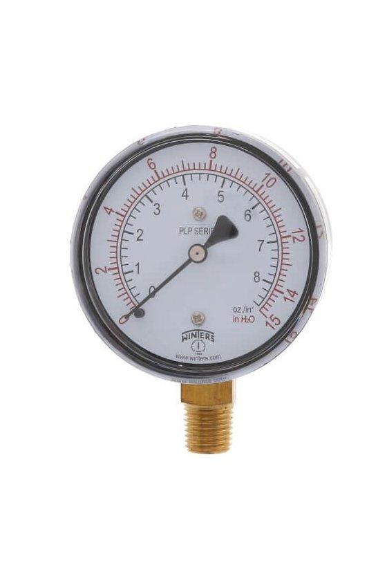 PLP300 MANOMETRO 2 1/2X1/4 INF 0-15 IN H2O