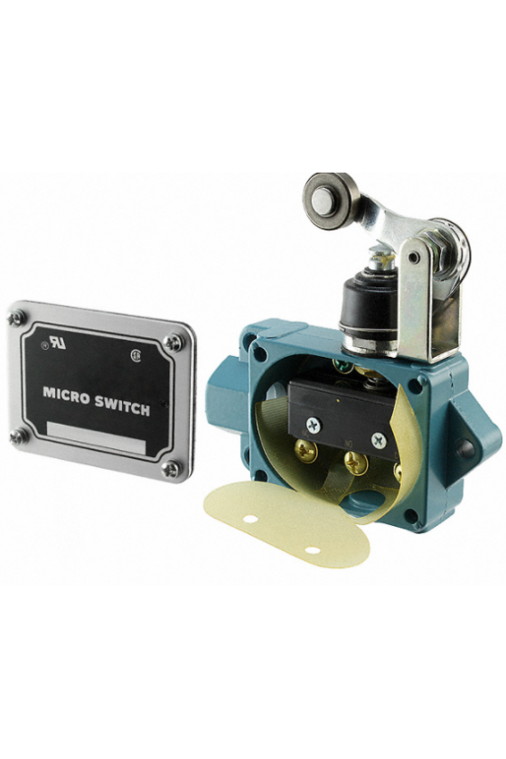 BAF1-2RN2-RH Interruptor en caja de alta capacidad, Series BAF/DTF MICRO SWITCH, Actuador de brazo con rodillo superior