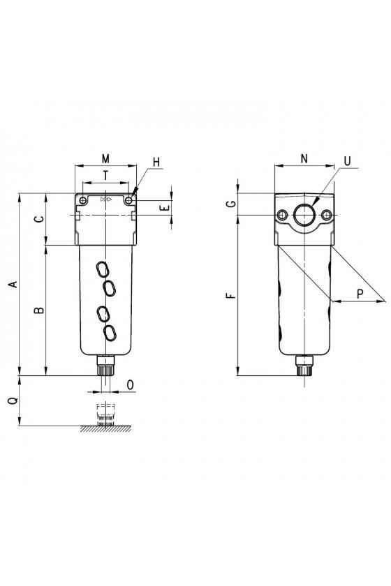 MC202-FB0 FILTRO 1/2, COALESCENTE 0.01 MICRAS
