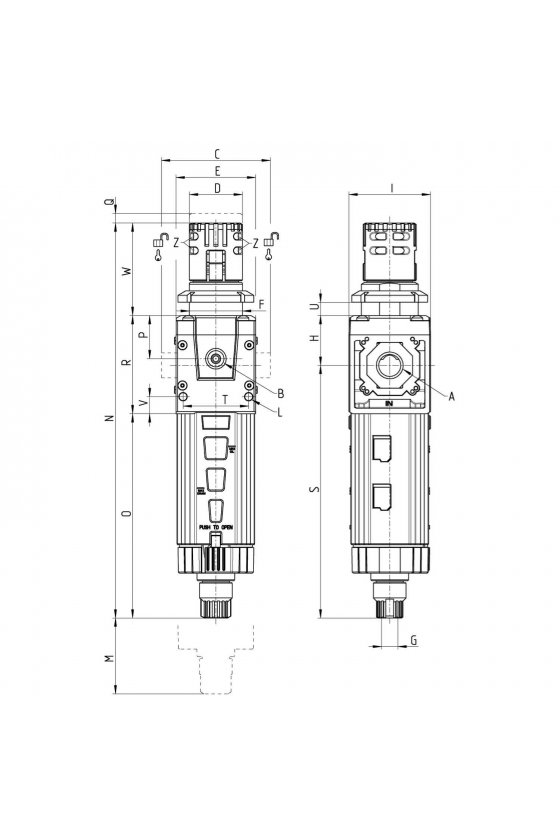 MD1-FR0000 FILTRO-REGULADOR, 25 MICRAS,SIN