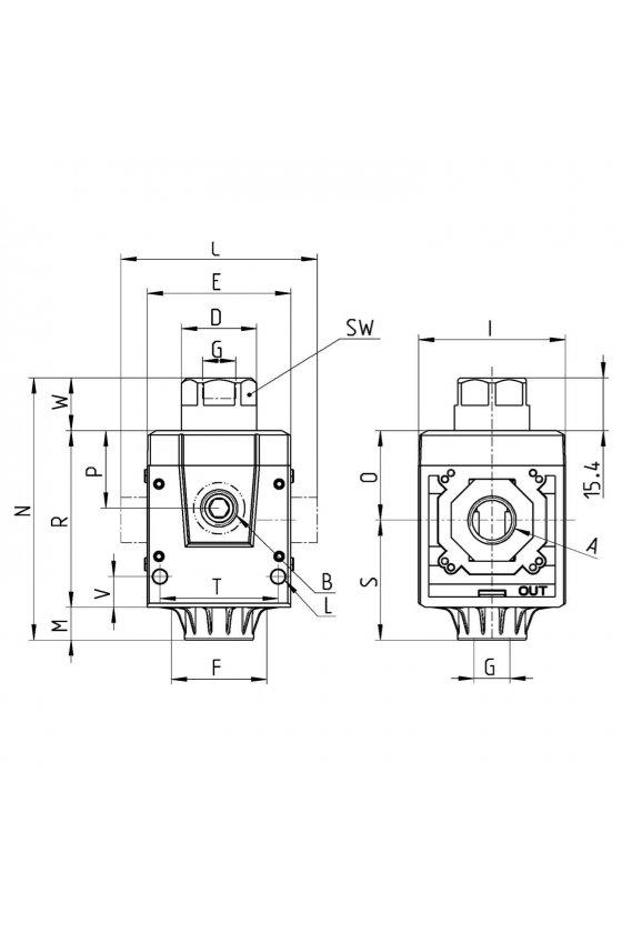MD1-V36 VALVULA AISLAMIENTO 3/2 VIAS,