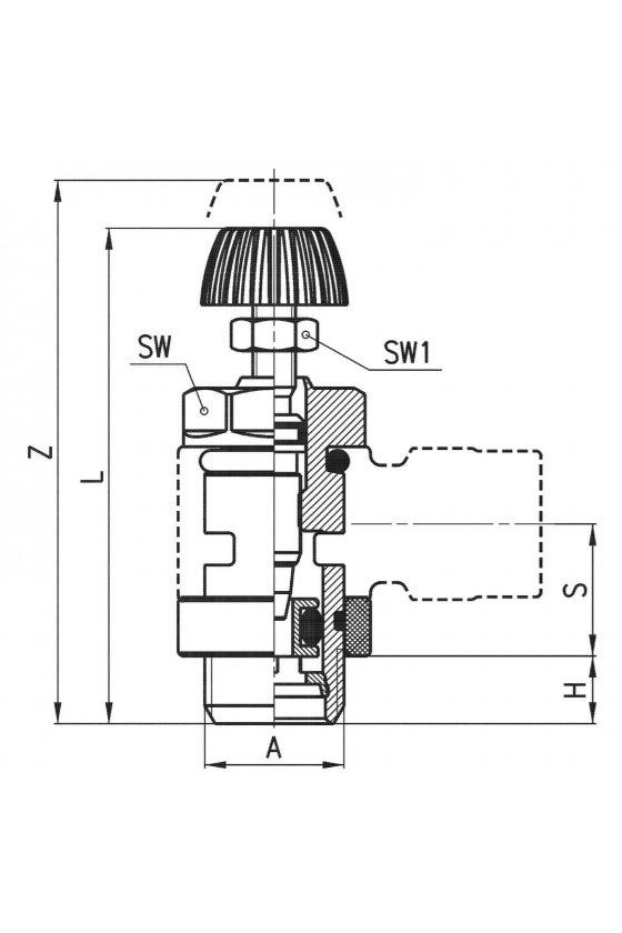 MVU 704-1/8 REGULADOR DE CAUDAL VAL-UNIDIR.