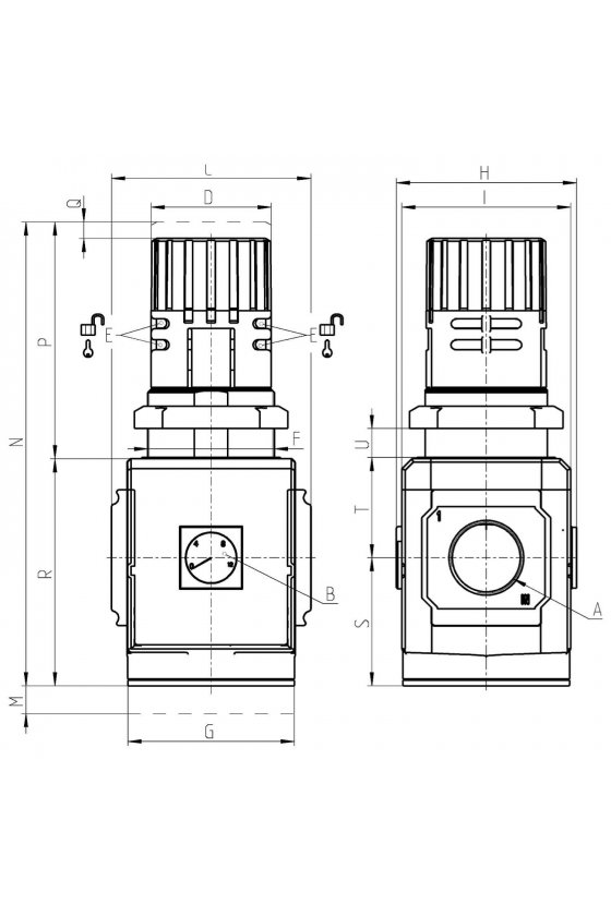 "MX2-1/2-R004 REGULADOR 1/2"", CON MANOMETRO"