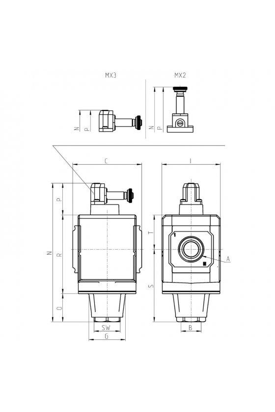 MX2-1/2-V16 VALVULA DE 3 VIAS, ELECTRONEUMATICA