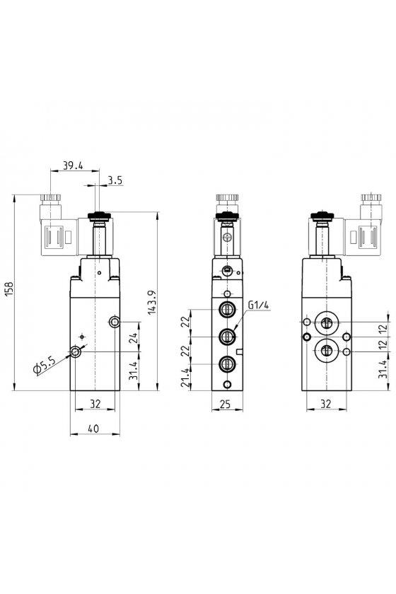 NA34N-15-02 ELECTROVALVULA MONOESTABLE