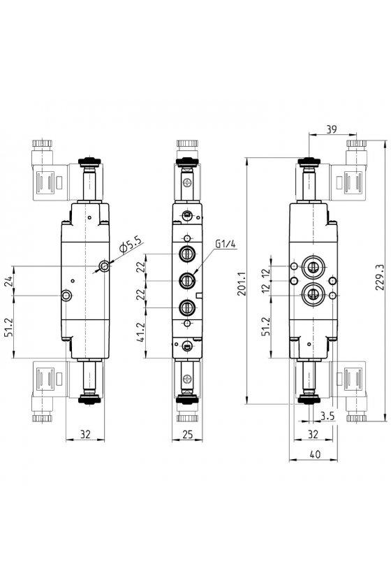 NA54N-11-02 ELECTROVALVULA BIESTABLE NAMUR