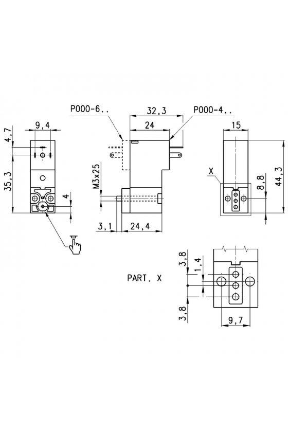 P000-405-P53 ELECTROVALVULA 3/2, N.A. 24VCD,2W,