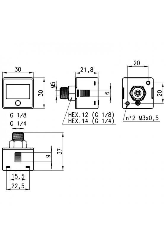 PG001-VB-1/8 MEDIDOR DE VACIO DIGITAL -1 BAR, 1/8PUL