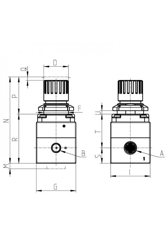 PR104-M04 REGULADOR DE PRECISION  1/4 (0-4 BARS)