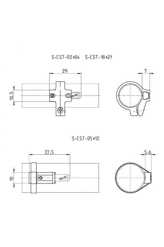 S-CST-18 SOPORTE P/SENSOR CIL. D32, SERIE 27-