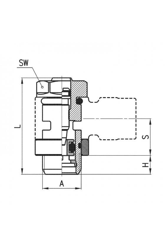 SCU 606-1/4 REGULADOR DE CAUDAL CIL-UNIDIR.