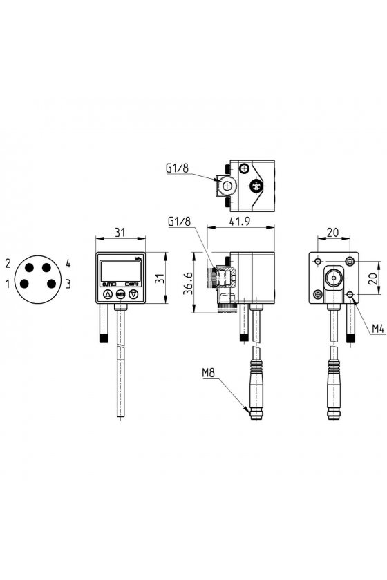 SWCN-V01-P4-2 SWITCH ELECTRONICO DIGITAL P/VACIO -