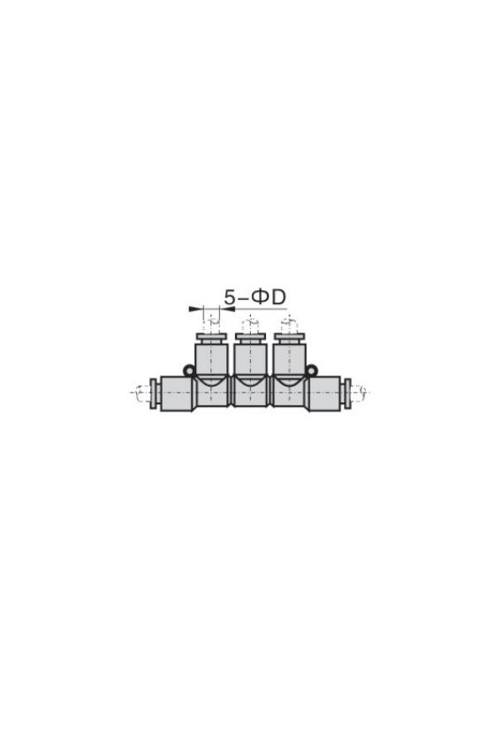 APKS6 CONECTOR UNION TRIPLE 6MM