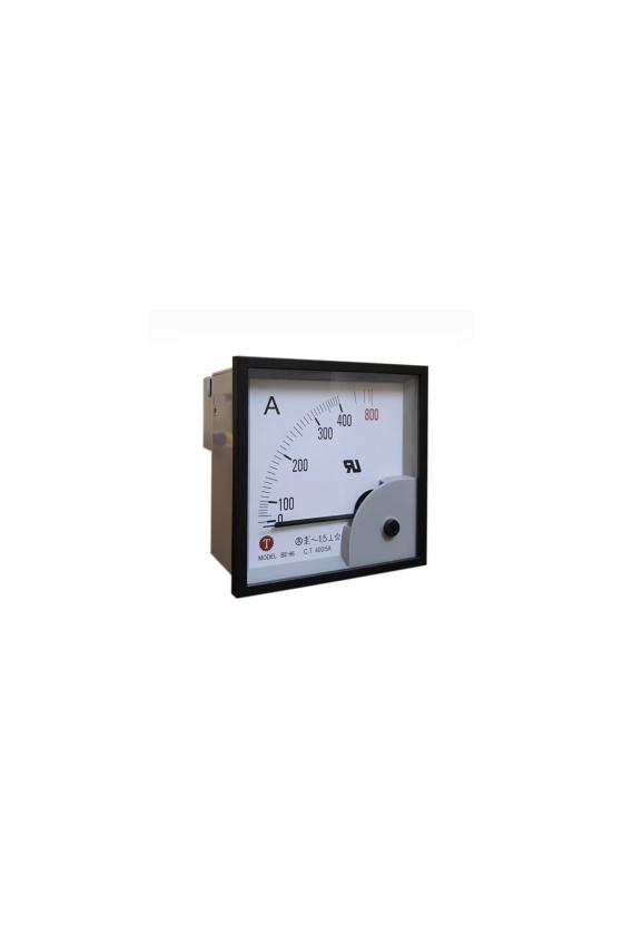BE-96-400/5A AMPERIMETRO 96X96MM 400/5A