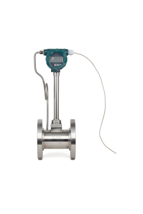 """VTX S 020 Medidor digital vortex 3/4"""" p/vapor en acero inoxidable serie industrial."""