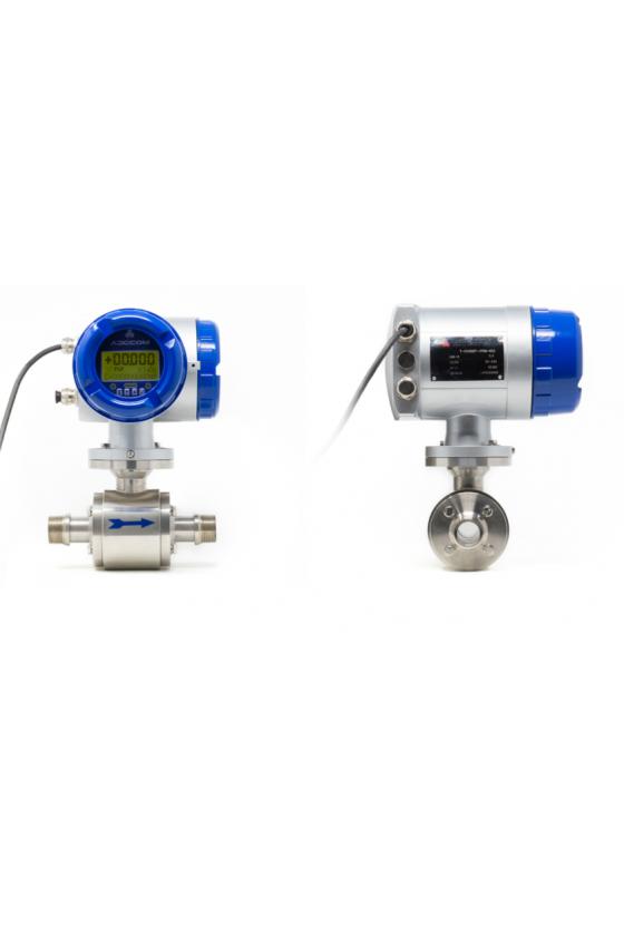 "ETG T PRO 015 Medidor electromagnético 1/2"" acero inoxidable cnx roscada 110-220 vac serie pro."