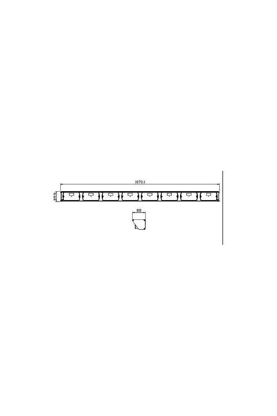SOBL4212LA BARRA DIRECCIONAL LED 42 12VCD 3 PATRONES DE FLASHEO 144 LEDS EN 8 MODULOS