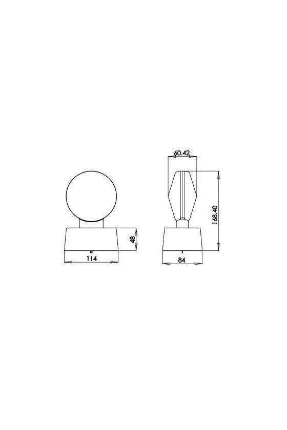 SORL911LED LUCES DE TRABAJO CON IMAN Y CABLE DE 12 VDC EN ROJO Y 7 LED