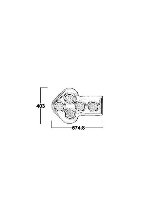 SOBLA25 BARRA DIRECCIONAL LED DE FLECHA 12VCD 3 PATRONES DE FLASHEO CONTROL DE TRAFICO DE 10 MODULOS