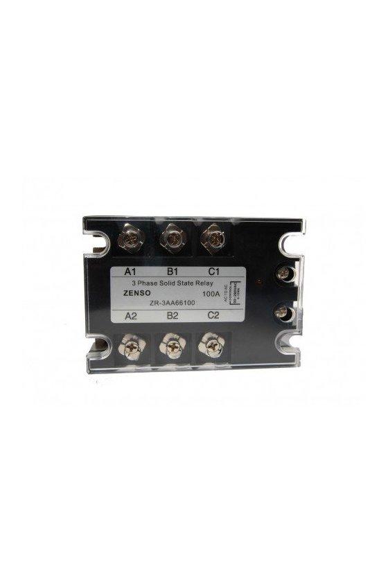 ZR3DA48100 relevador estado solido trifásico  100amp 3-32vdc salida 480vac