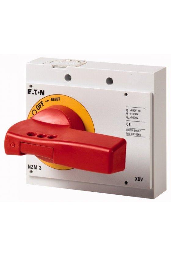 260140 NZM3-XDVR Mango giratorio, rojo-amarillo, con cierre, tamaño 3
