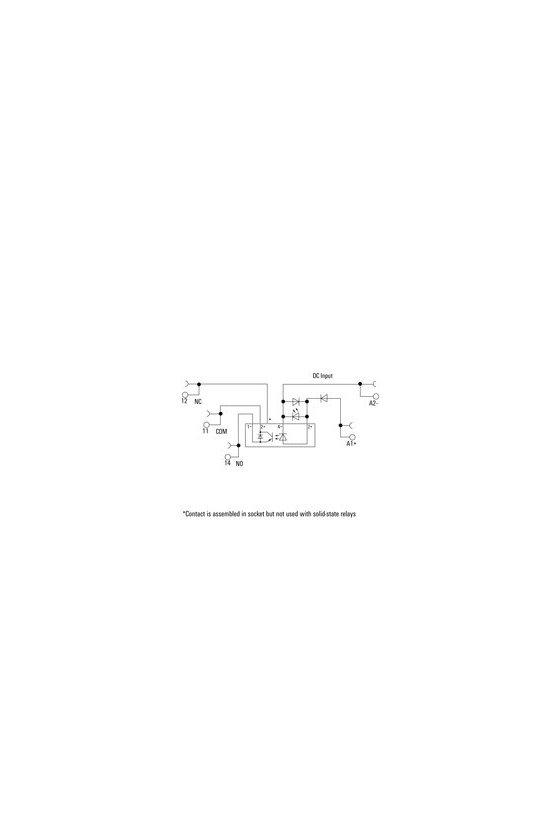 TOP 24VDC/48VDC 0,1A TERMOPTO, Relé de estado sólido, 1 Contacto normalmente abierto (Transistor) 8950780000