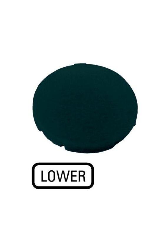 218209 M22-XD-S-GB18 Placa de botón, negra plana, INFERIOR