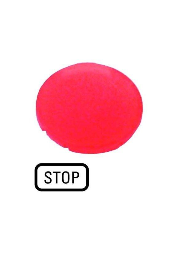 218326 M22-XDL-R-GB0 Lente de botón rojo plano, STOP